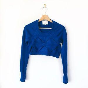 phillip lim • 100% wool cropped geometric sweater